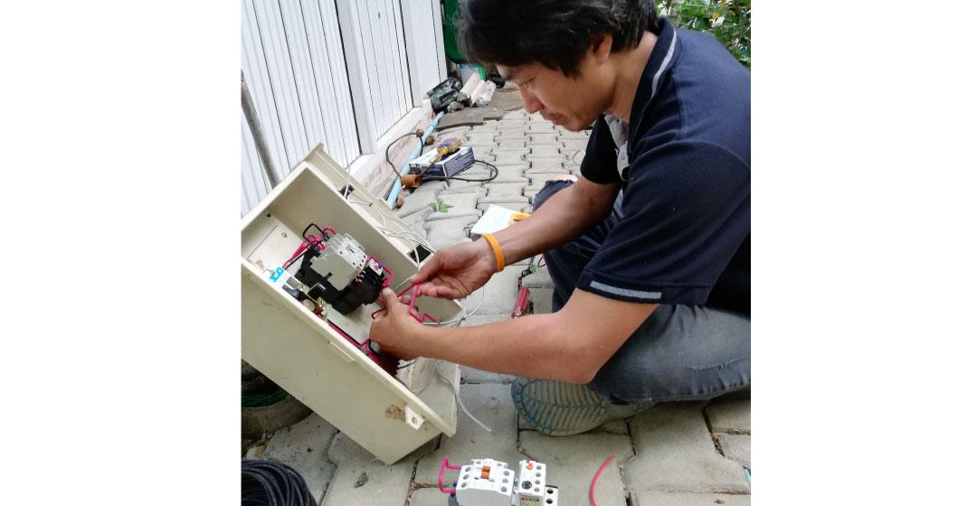 ติดตั้งตู้คอนโทรล ระบบน้ำอัตโนมัติ ที่ อ.ป่าซาง ลำพูน