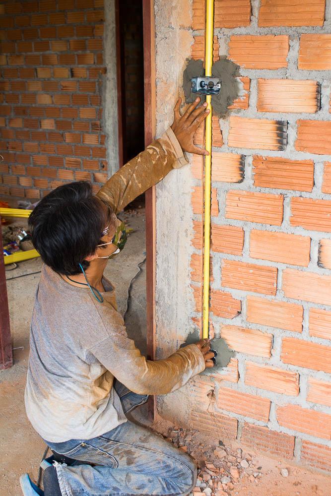 งานฝังท่อบ้านสร้างใหม่ ดอยสะเก็ด เชียงใหม่