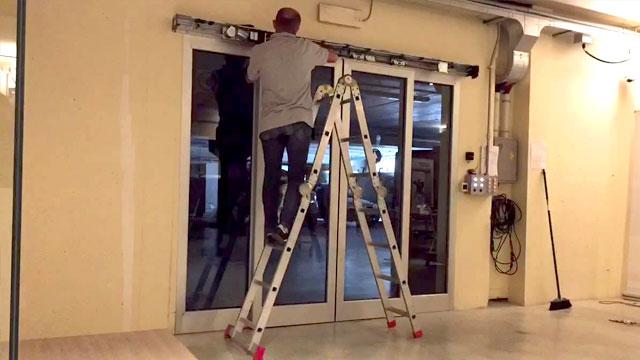 ติดตั้งประตูอัตโนมัติ ที่บริษัท999 เชียงใหม่
